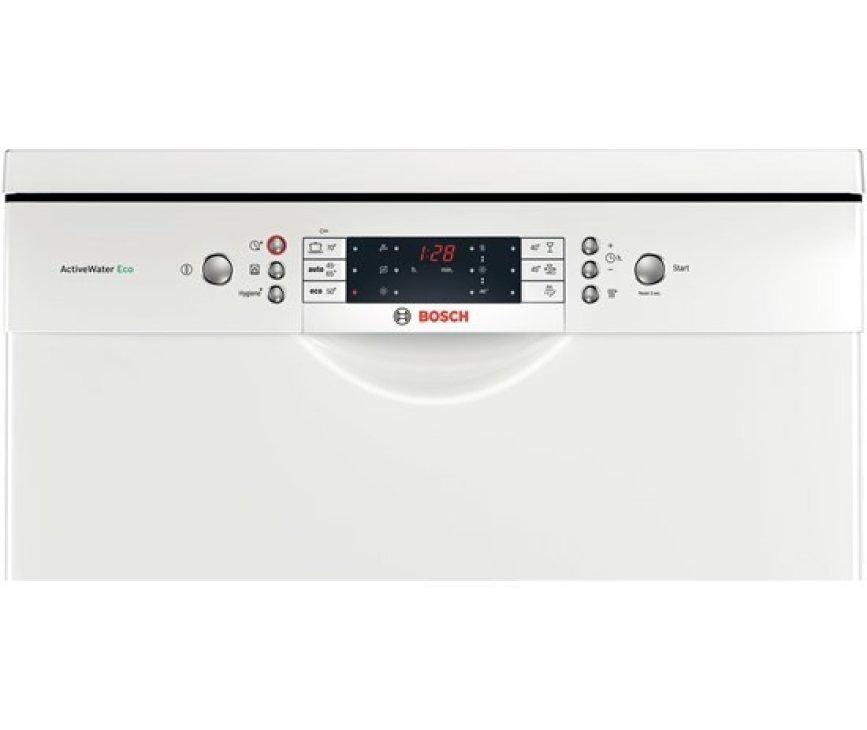 De Bosch SMS69N42EU vaatwasser vrijstaand beschikt over een uitgebreid digitaal bedieningspaneel