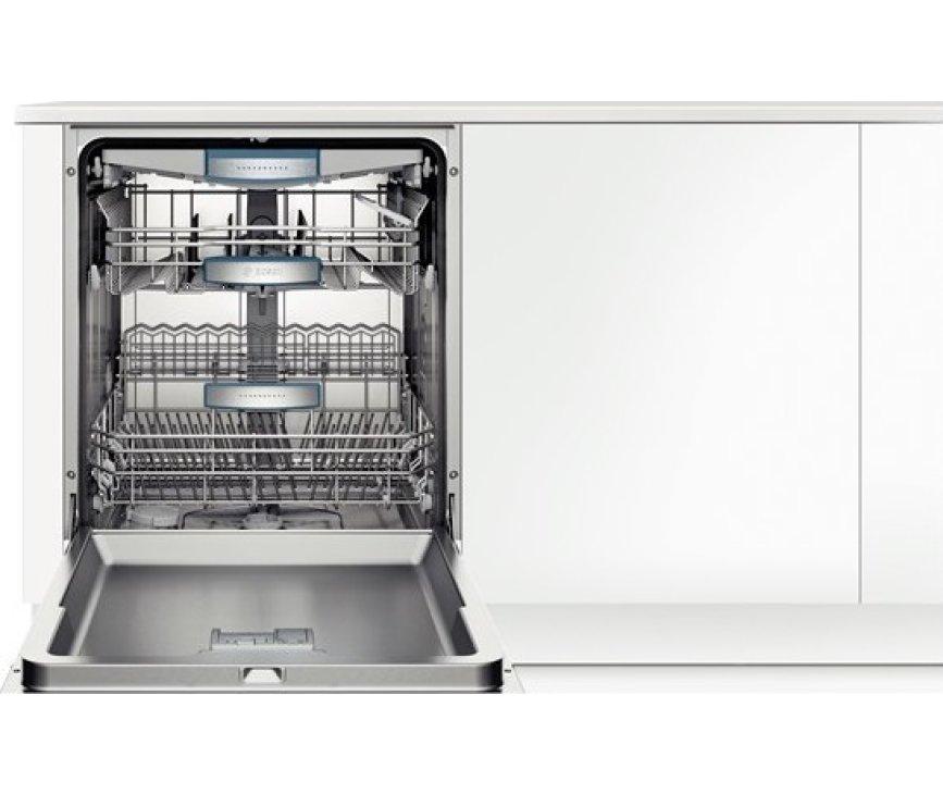 De Bosch SMU69N45EU onderbouw vaatwasser heeft een capaciteit van 13 standaard couverts