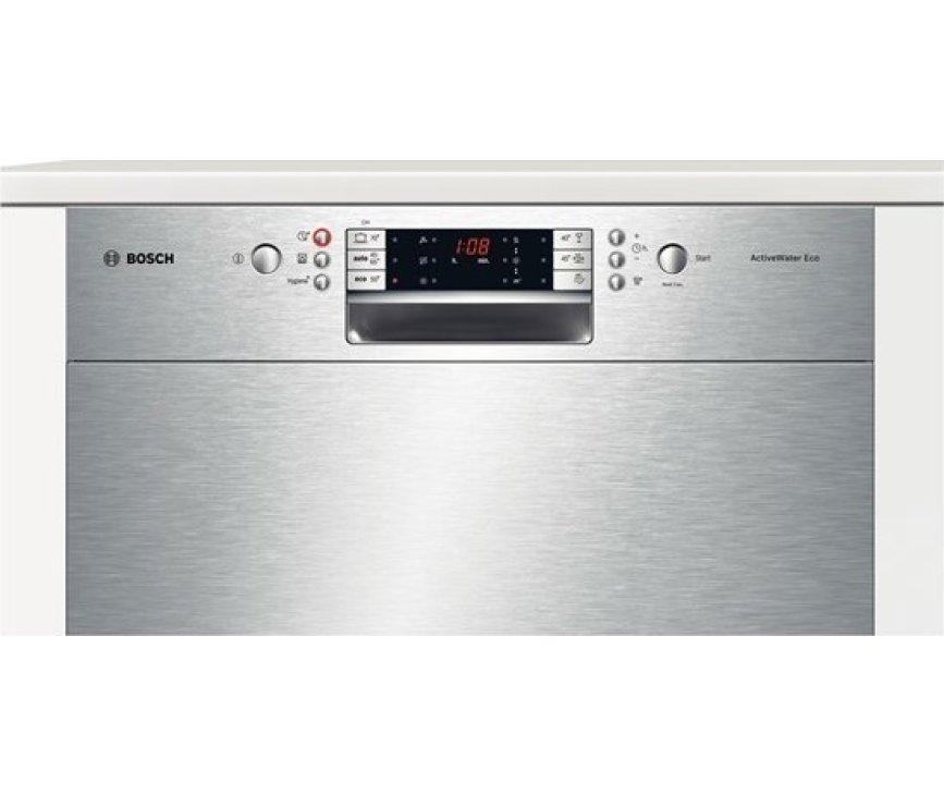De Bosch SMU69N45EU onderbouw vaatwasser is voorzien van een digitaal bedieningspaneel