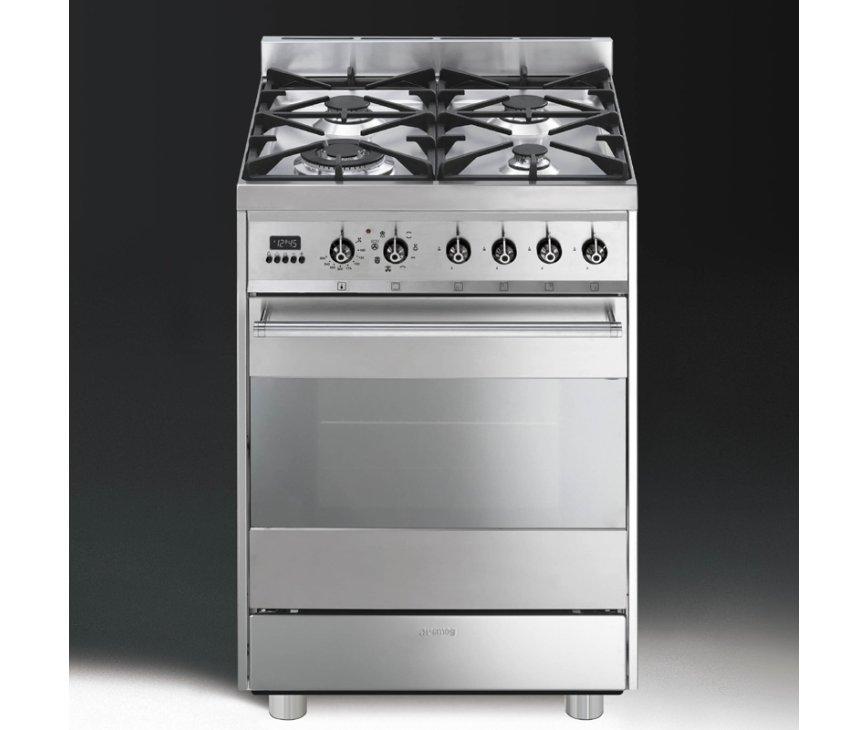 De Smeg C6GMXNLK8 is in hoogte verstelbaar en mag strak tussen twee keukenkasten geplaatst worden.