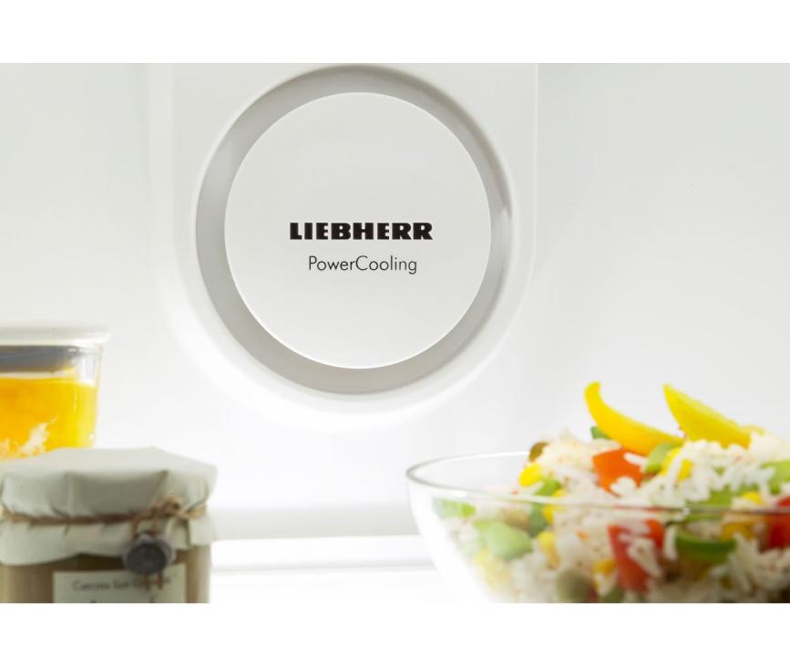 Het PowerCooling systeem in de Liebherr CNP3913 zorgt voor een gelijkmatige verdeling van de temperatuur