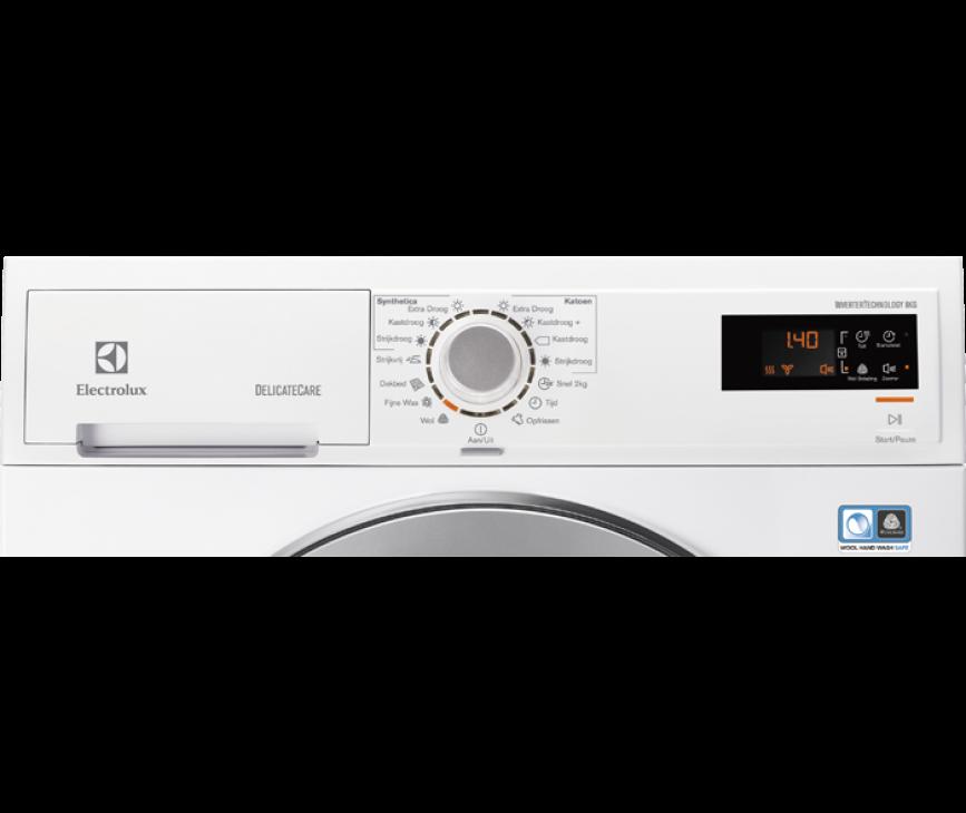 Het bedieningspaneel van de Electrolux EDH3786GDE warmtepomp droger