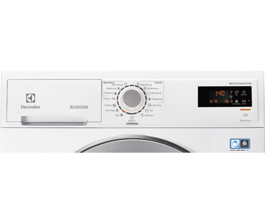 Het bedieningspaneel van de Electrolux EDH3886GDE warmtepomp droger
