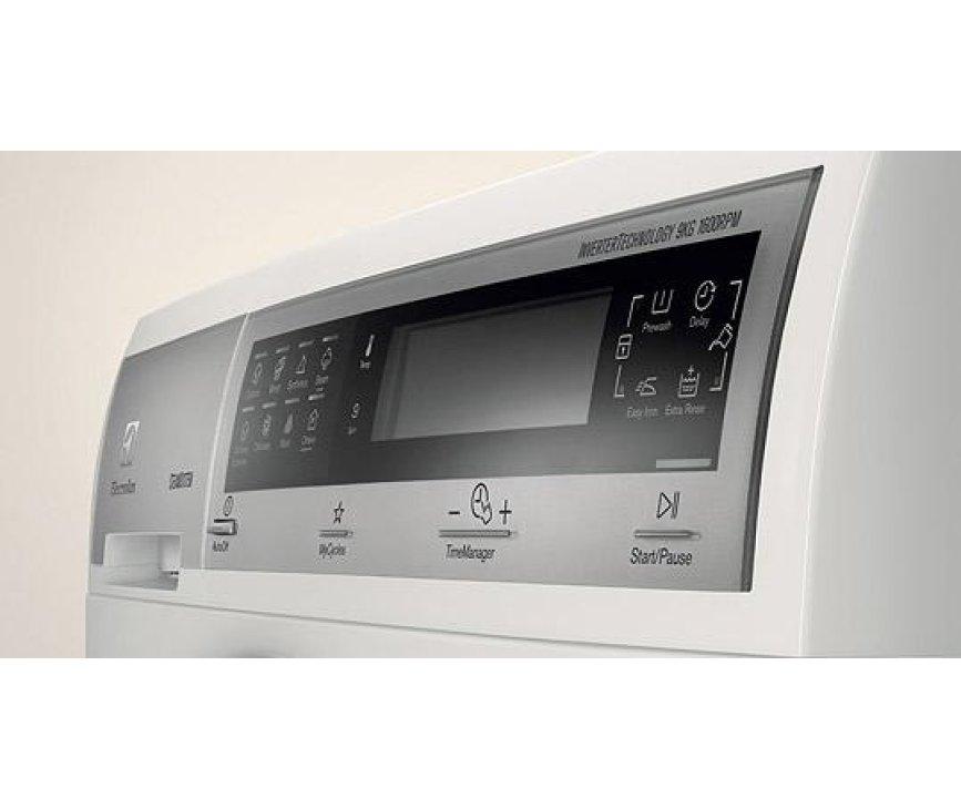 De eenvoudige en overzichtelijke bediening van de Electrolux EWF1408WDL wasmachine