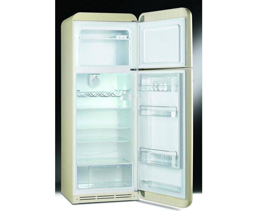Afbeelding van de binnenzijde van de SMEG koelkast oranje FAB30LO1