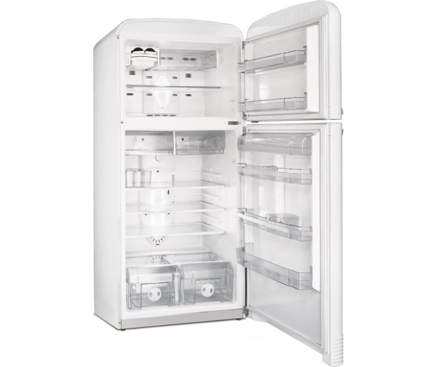 Foto van de binnenzijde van de SMEG koelkast FAB50B wit