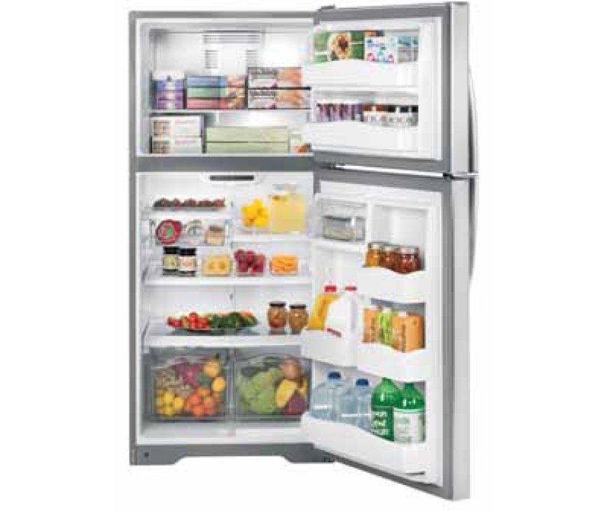 De Genaral Electrics GTEB0GAFRSS Amerikaanse koelkast heeft een totale inhoud van 634 liter