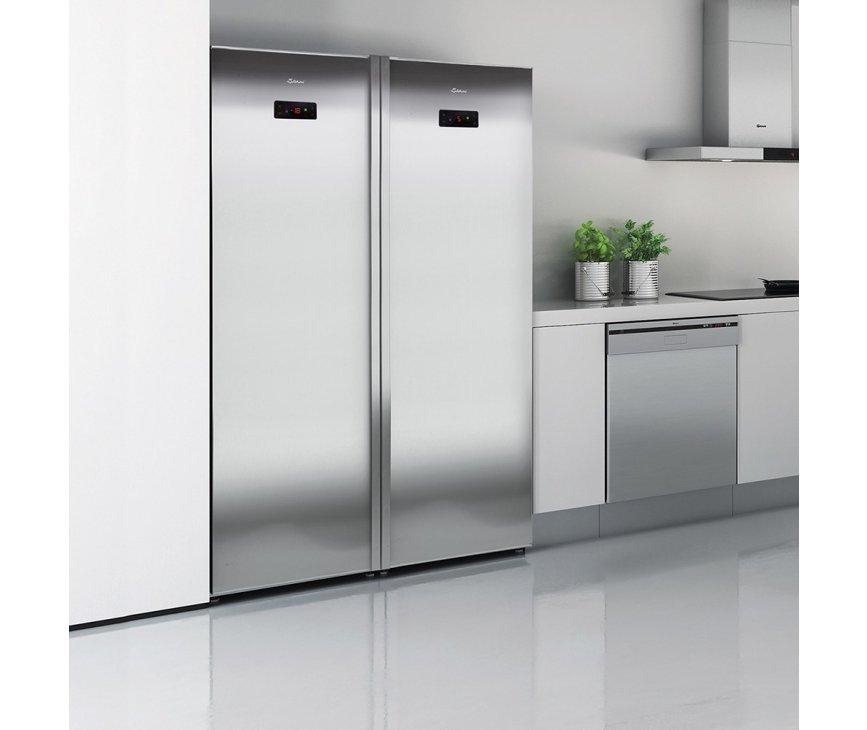 De Gram KS 5406-90 F X koelkast kan perfect geplaatst worden in een side-by-side opstelling met bijpassende vrieskast