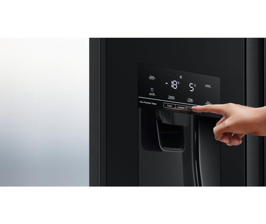 Hisense RS694N4TFE koelkast - blacksteel-look