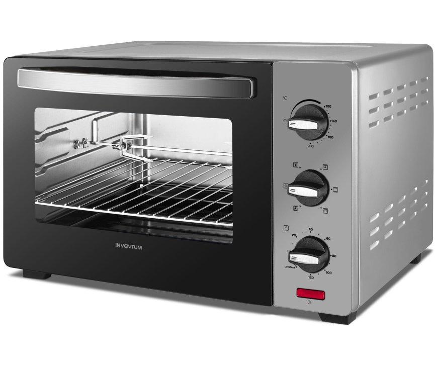 Inventum OV307S vrijstaande oven - zilver