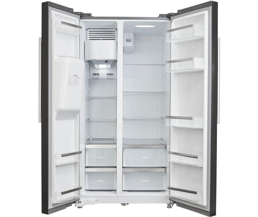 Inventum SKV1782BI side-by-side koelkast - zwart