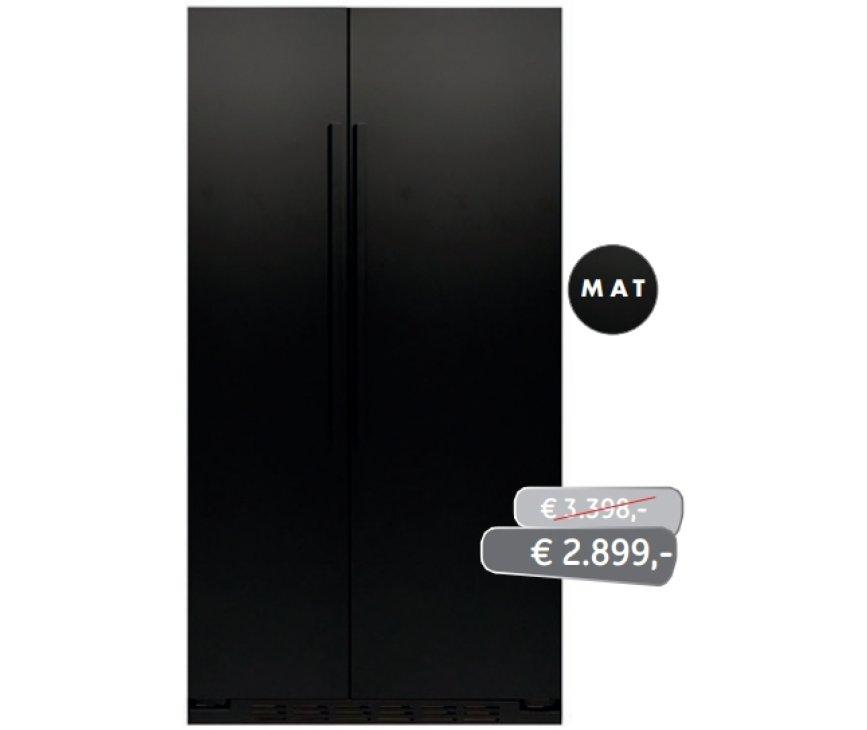 ioMabe ORGS2DBF 3BM-BH mat-zwarte Amerikaanse koelkast