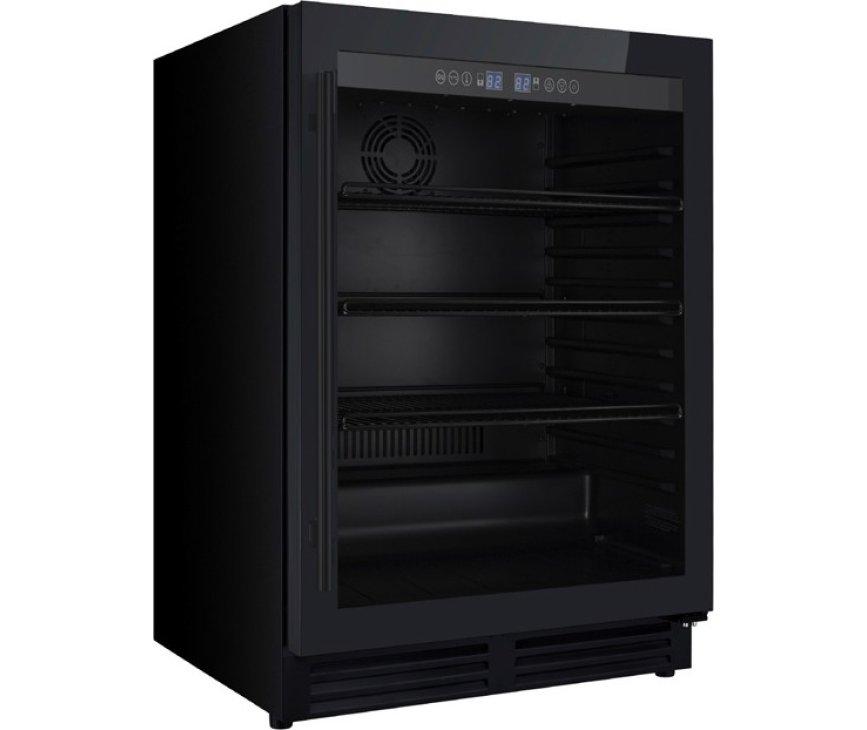 Iomabe IOB150BB-BG koelkast onderbouw - zwart met zwarte greep