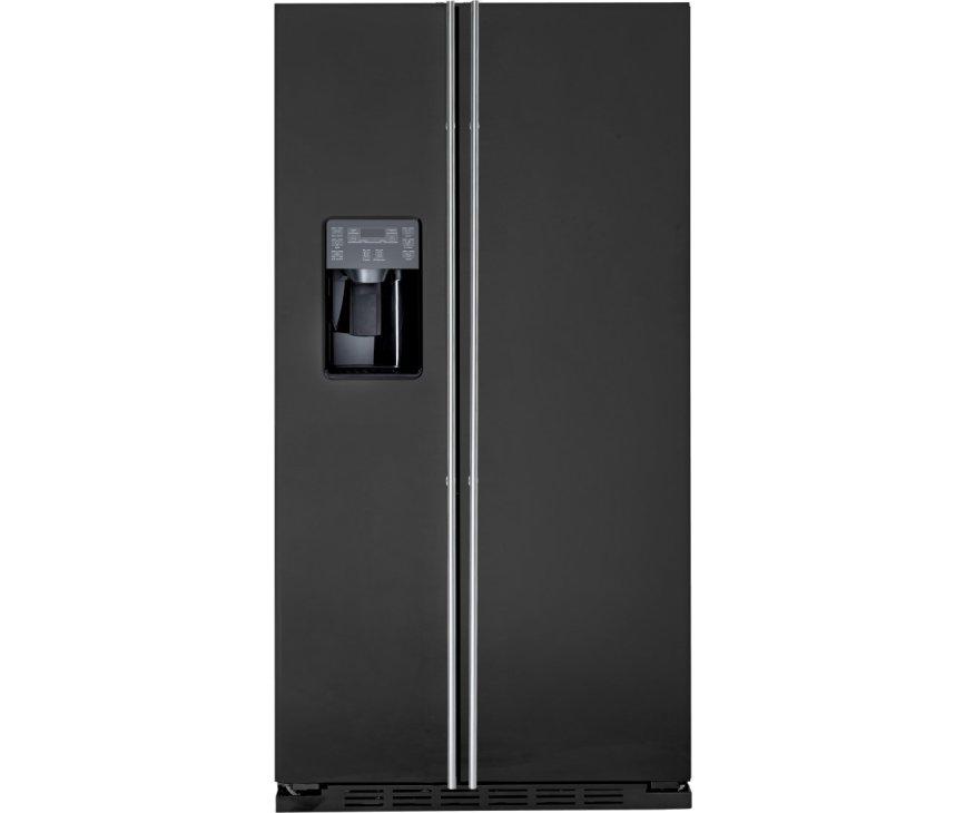 ioMabe ORE24CGF 3BM mat-zwart Amerikaanse koelkast uitgevoerd met zwarte bar
