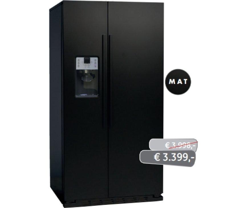 ioMabe ORGS2DFF 8BM-BH vrijstaande Amerikaanse koelkast - mat-zwart