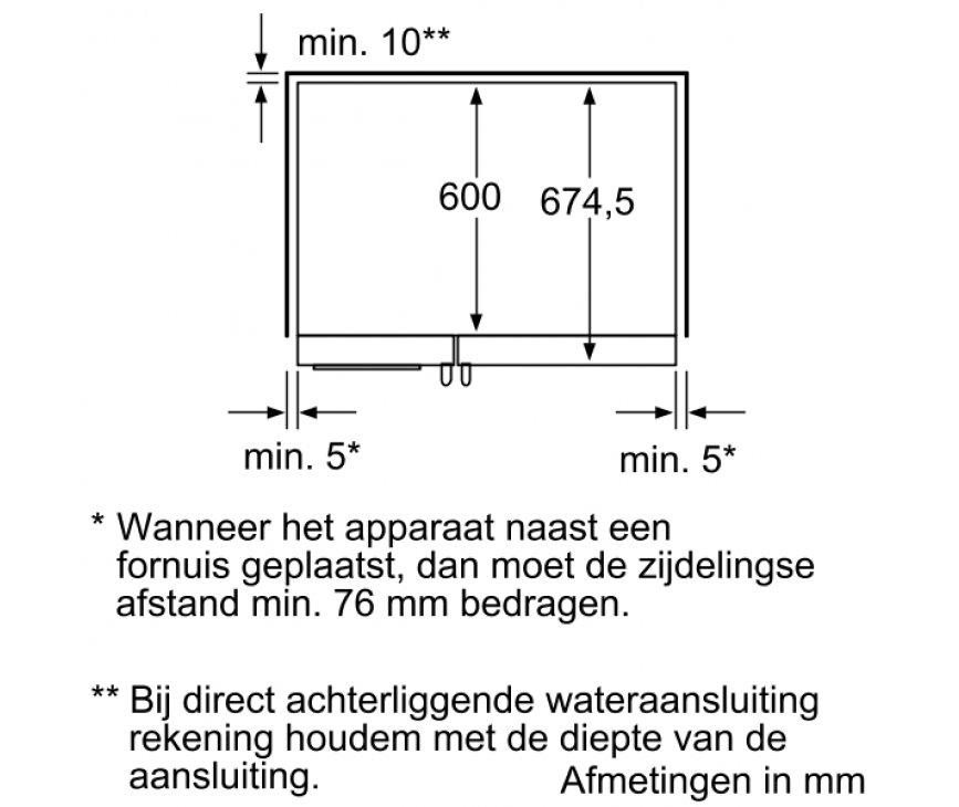 Maatschets van de SIEMENS amerikaanse koelkast type KA58NA45 rvs-look