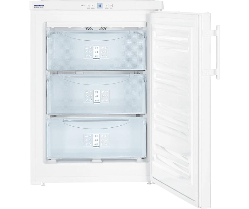 - Behuizing / Kleur deur Wit / Wit - Materiaal deur/deksel Staal - Volume vriesgedeelte 99 l - Energieklasse - Energieverbruik per jaar 149 kWh - Energieverbruik per 24 uur 0,408 kWh - Energiekosten per jaar € 33,- - Geluidsniveau 39 dB(A) - Geluidsniveau