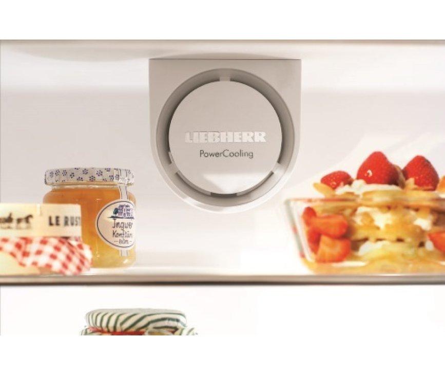 Het PowerCoolingsysteem van de Liebherr CNPesf4003 koelkast roestvrijstaal