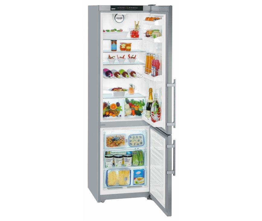 De Liebherr CNPesf4003 koelkast roestvrijstaal heeft een totale netto inhoud van 322 liter
