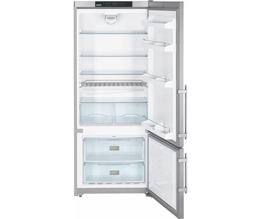 Afbeelding van de binnenzijde van de LIEBHERR koelkast CNPesf4613 voorzien van twee laden vries