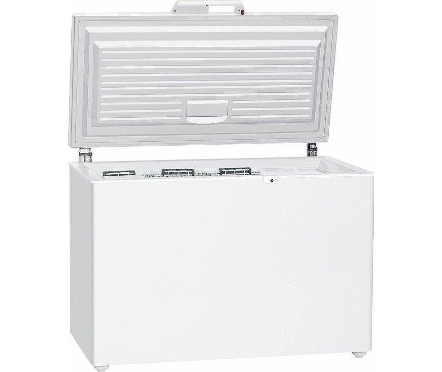 De Liebherr GT3632 vrieskist wit heeft verlichting en optisch temperatuuralarm