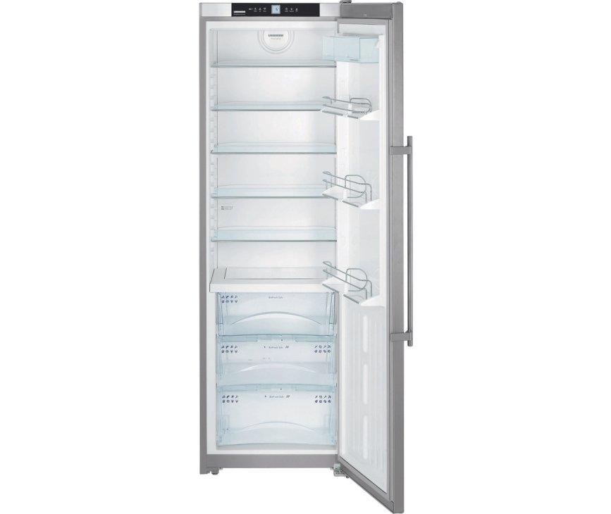 Foto van de binnenzijde van de LIEBHERR koelkast KBes4260 rvs (voorzien van BioFresh)
