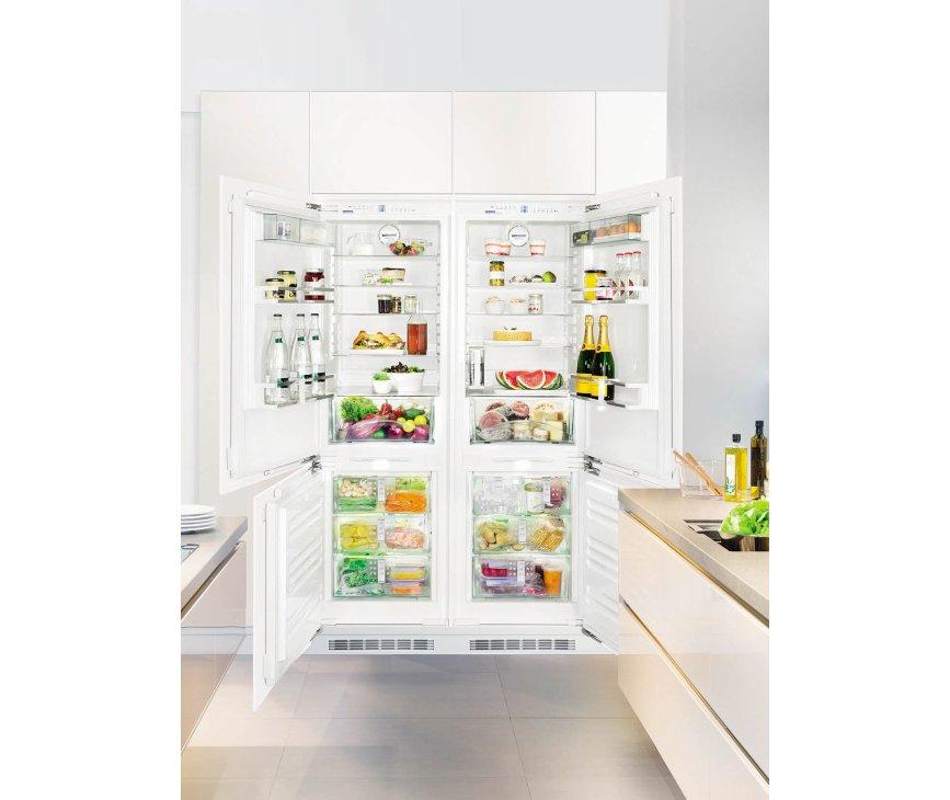De Liebherr SBS66I2 side-by-side inbouw koelkast is volledig integreerbaar