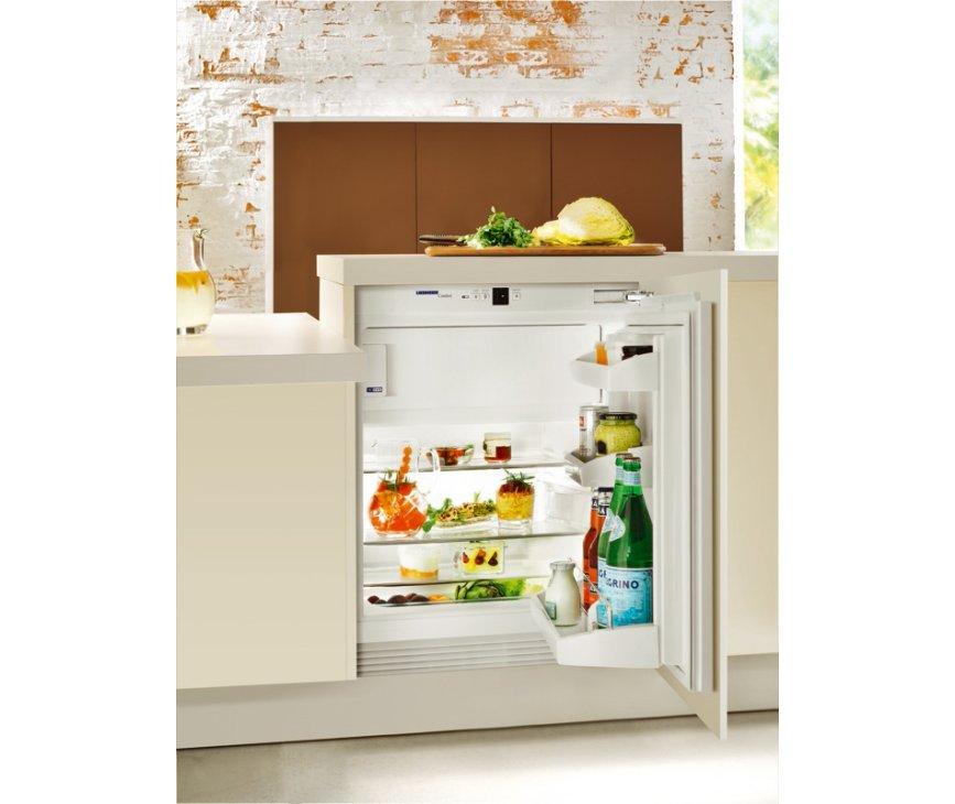 De Liebherr UIK1424 onderbouw koelkast heeft SoftSytem sluiting, voor maximale isolatie