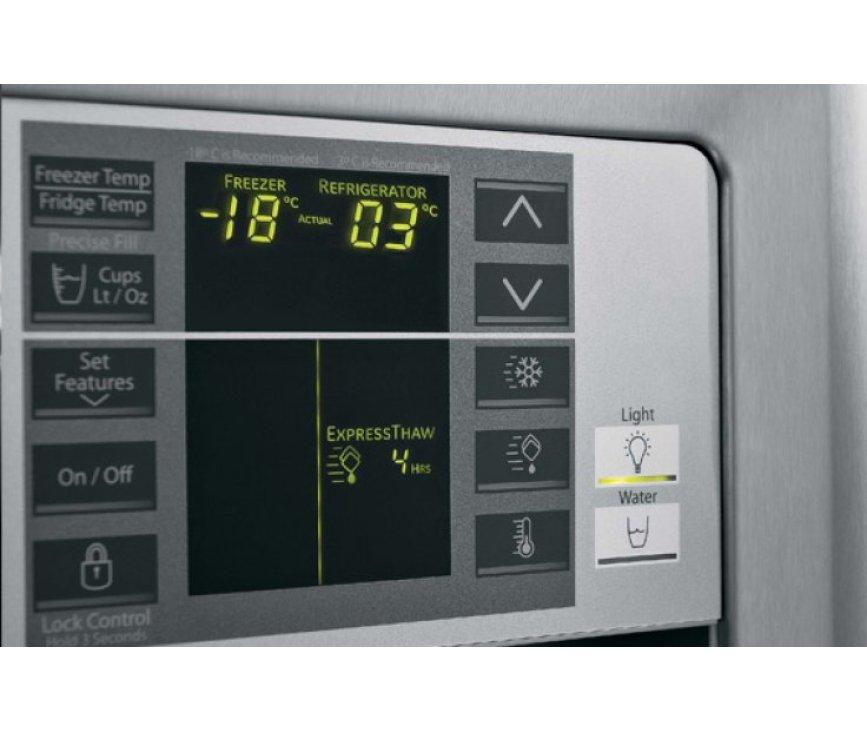 De bediening van de Mabe MEM30VHD SSF is digitaal en eenvoudig instelbaar