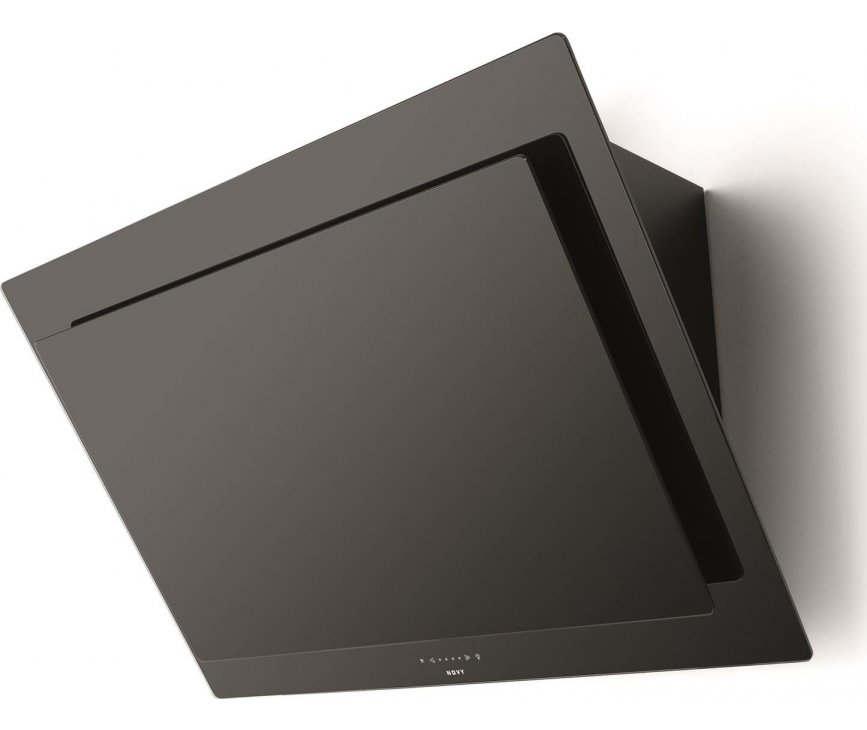 Novy 7836 afzuigkap wand - recirculatie - Vision - zwart glas