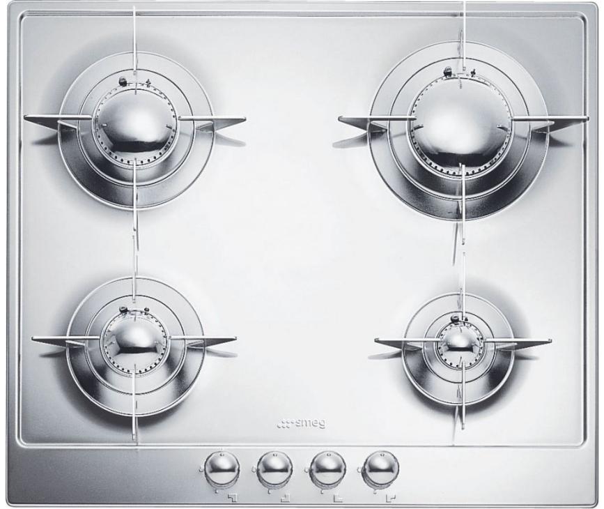Smeg PNL64ES inbouw kookplaat