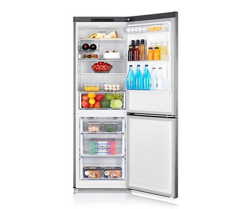 De SAMSUNG koelkast RB29FSRNDSA heeft 3 laden vries en een ruim koelgedeelte