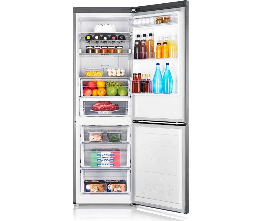 Afbeelding van de SAMSUNG koelkast RB31FERNCSA met geopende deuren
