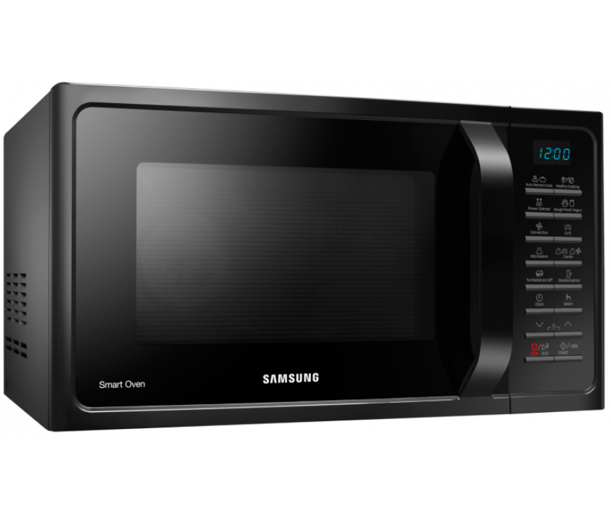 De Samsung MC28H5015AK is ook in wit en zilverkleurig verkrijgbaar