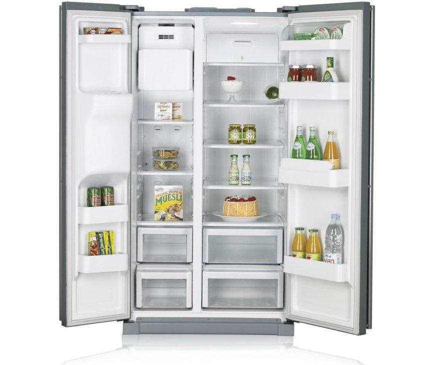 De Samsung RSA1UTSL side-by-side koelkast is erg ruim en beschikt over veel technieken
