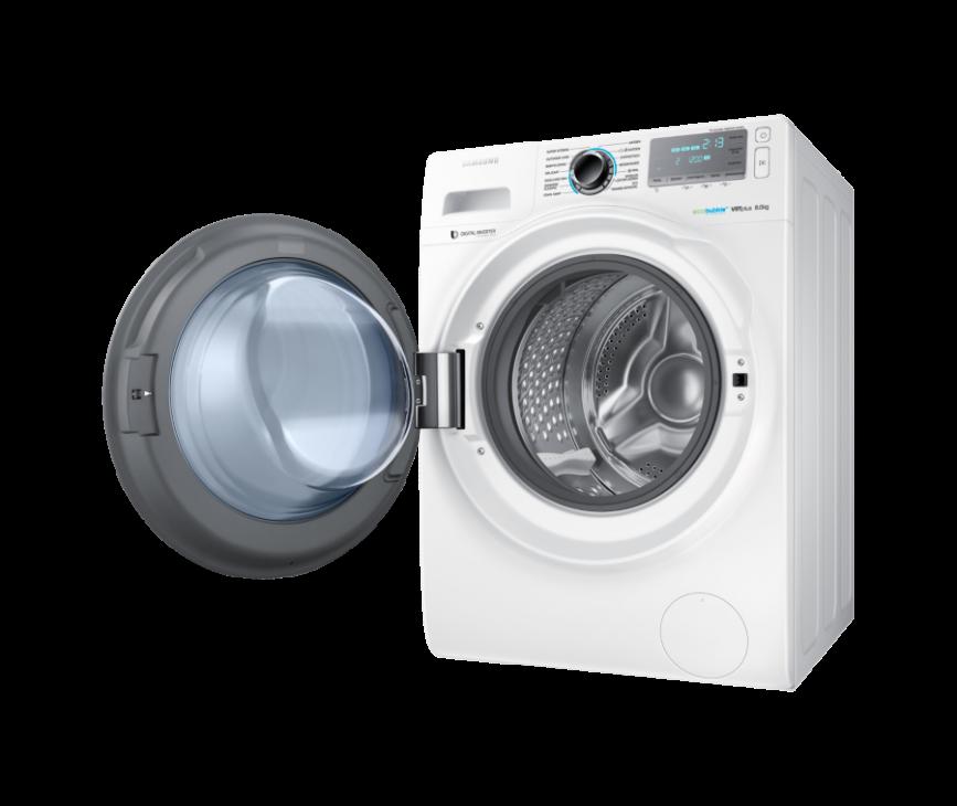 De Samsung WW80H7600EW kan 8kg wassen