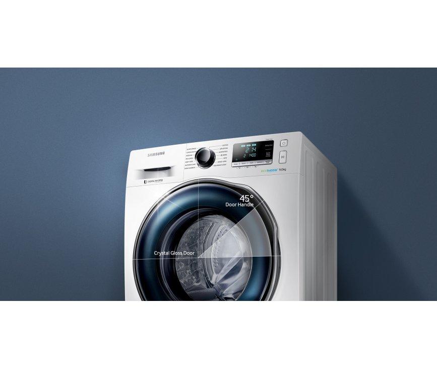 De Samsung WW80J6400CW wasmachine heeft een maximaal vulgewicht van 8 kg