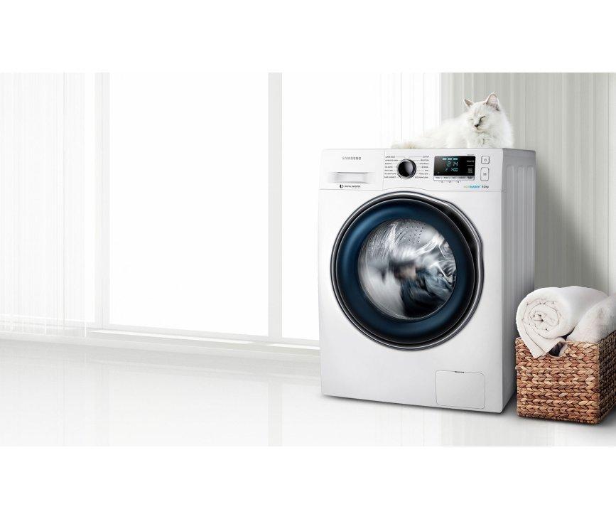 De Samsung WW80J6600CW wasmachine is voorzien van EcoBubble technologie