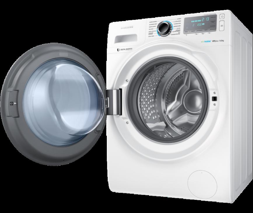 De Samsung WW90H7600EW kan 9kg wassen