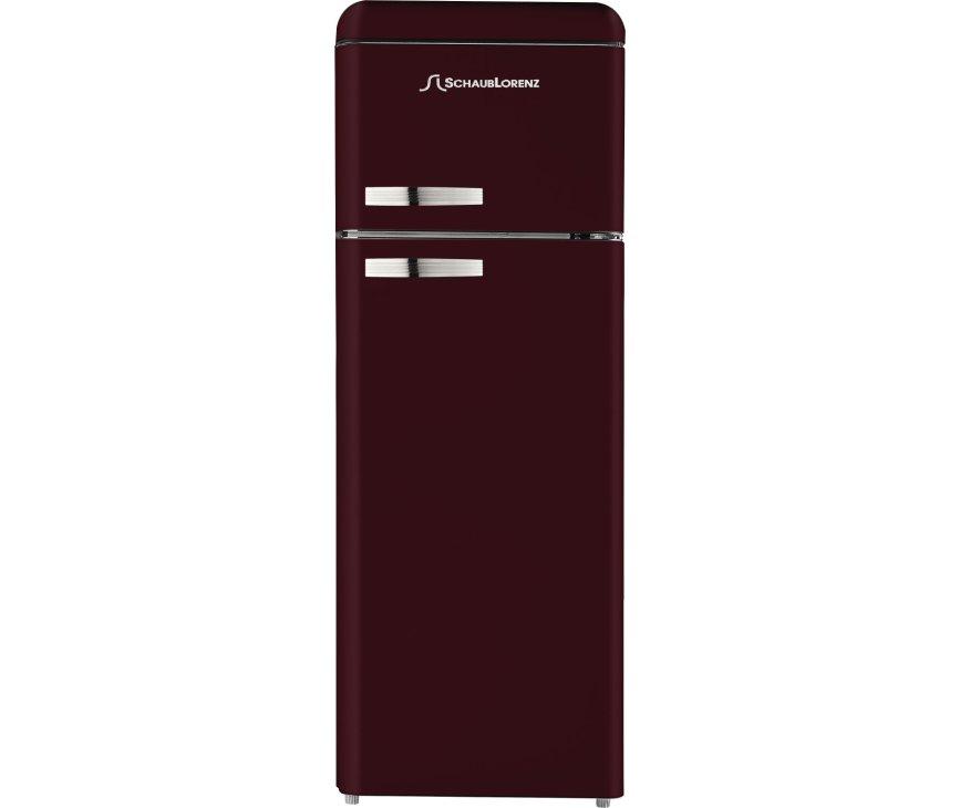 Schaub Lorenz DTF15055R-8090 koelkast bordeaux rood