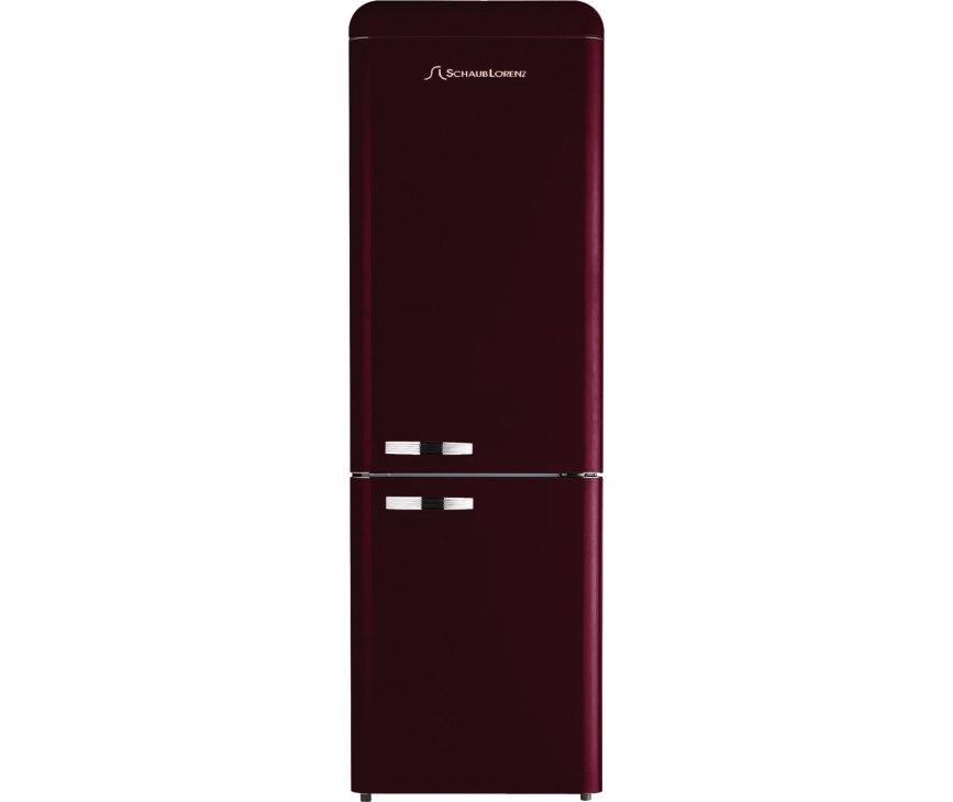Schaub Lorenz DBF19060R-8168 koelkast bordeaux rood