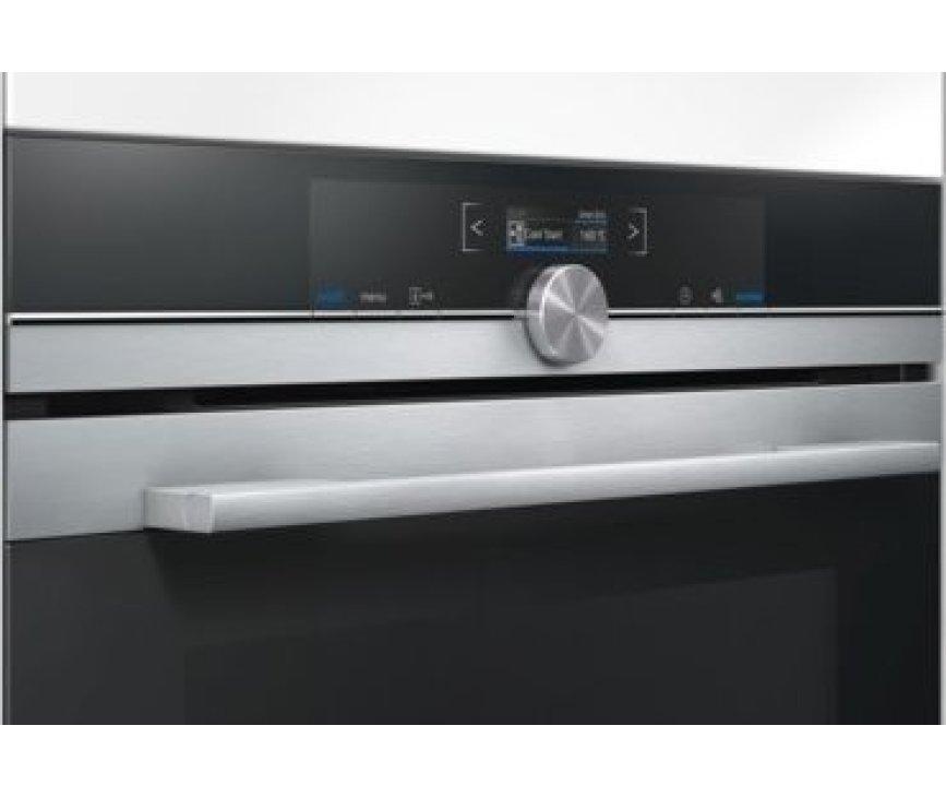 Het bedieningspaneel van de Siemens HM633GNS1 oven met magnetron