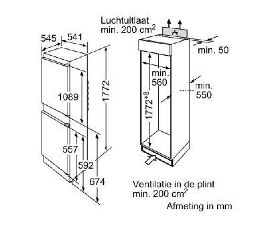 SIEMENS koelkast inbouw KI38VA50