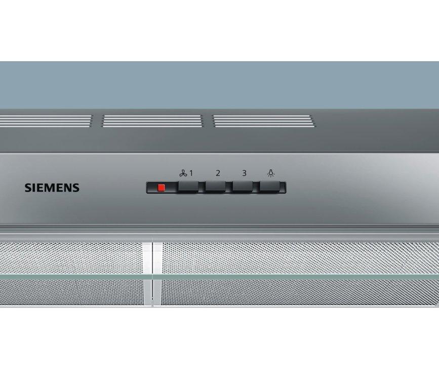 Het bedieningspaneel van de Siemens LU17153 afzuigkap onderbouw