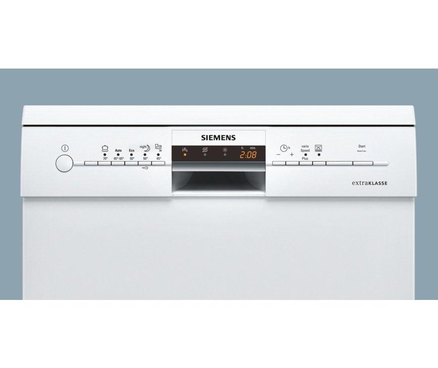 De bediening van de Siemens SN28M250EU vaatwasser is eenvoudig en overzichtelijk