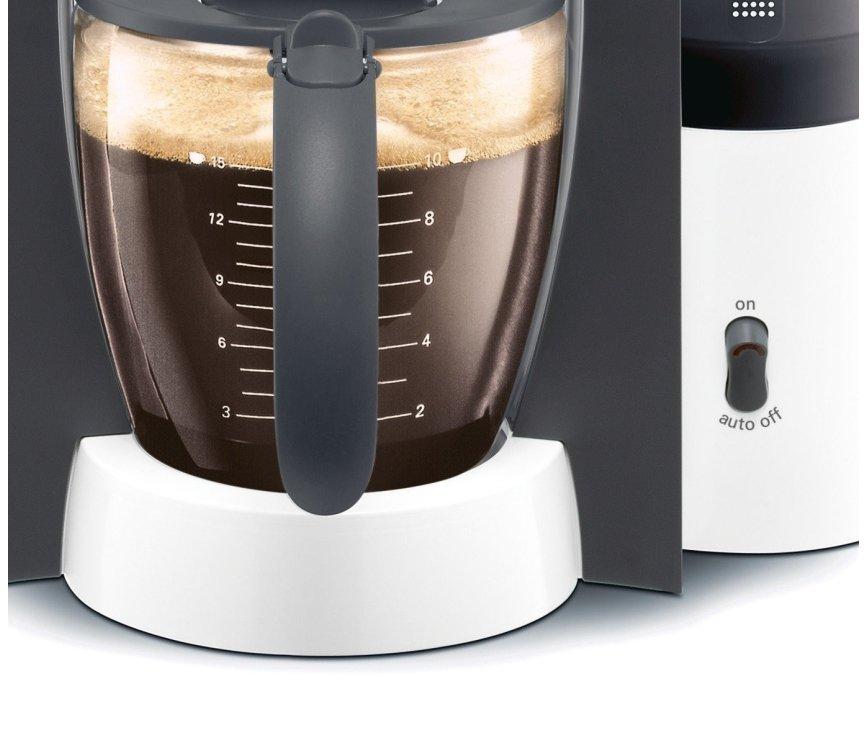 De Siemens TC60301 koffiezetapparaat kan koffie zetten voor 10-15 koppen koffie