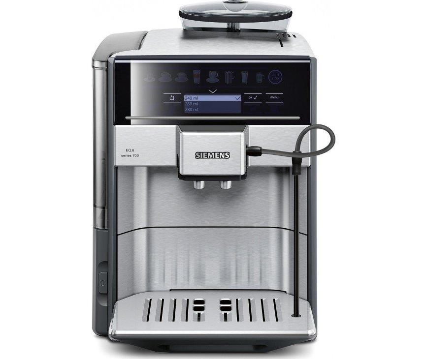 De Siemens TE607203RW koffiemachine rvs is geschikt voor alle soorten koffie in alle soorten koppen