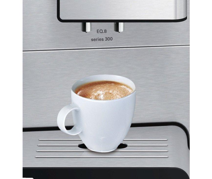De Siemens TE806201RW koffiemachine rvs wordt geleverd met 15.000 koppen garantie