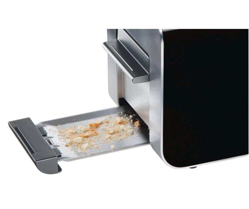 De Siemens TT86103 broodrooster is voorzien van een opvanglade onderin voor de kruimels