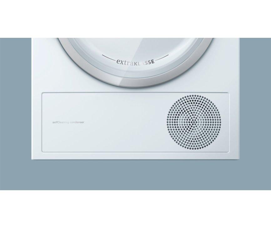 Door het SelfCleaning systeem in de Siemens WT47W590NL warmtepomp droger hoeft u de condensor niet te handmatig te reinigen
